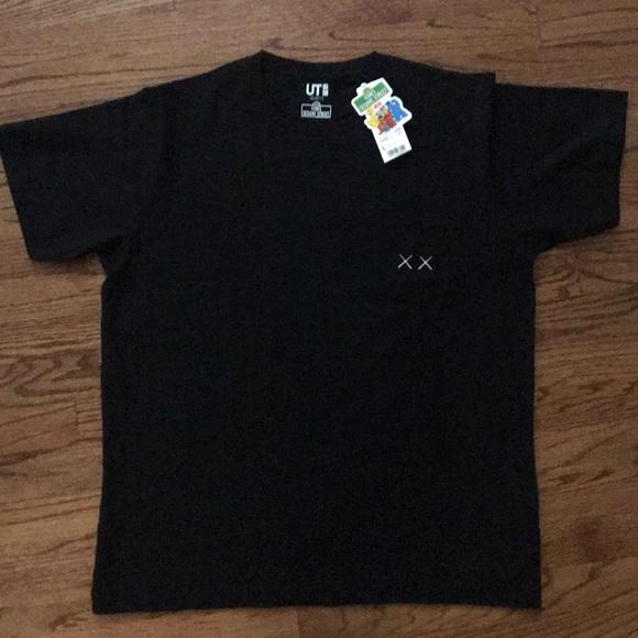 9815a6c7 Uniqlo Shirts | Kaws X Sesame Street Adult L Pocket T | Poshmark